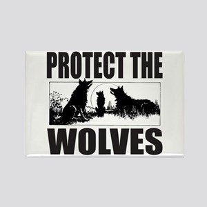 PROTECT THE WOLVES Rectangle Magnet